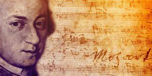 W. A. Mozart con spartito autografo