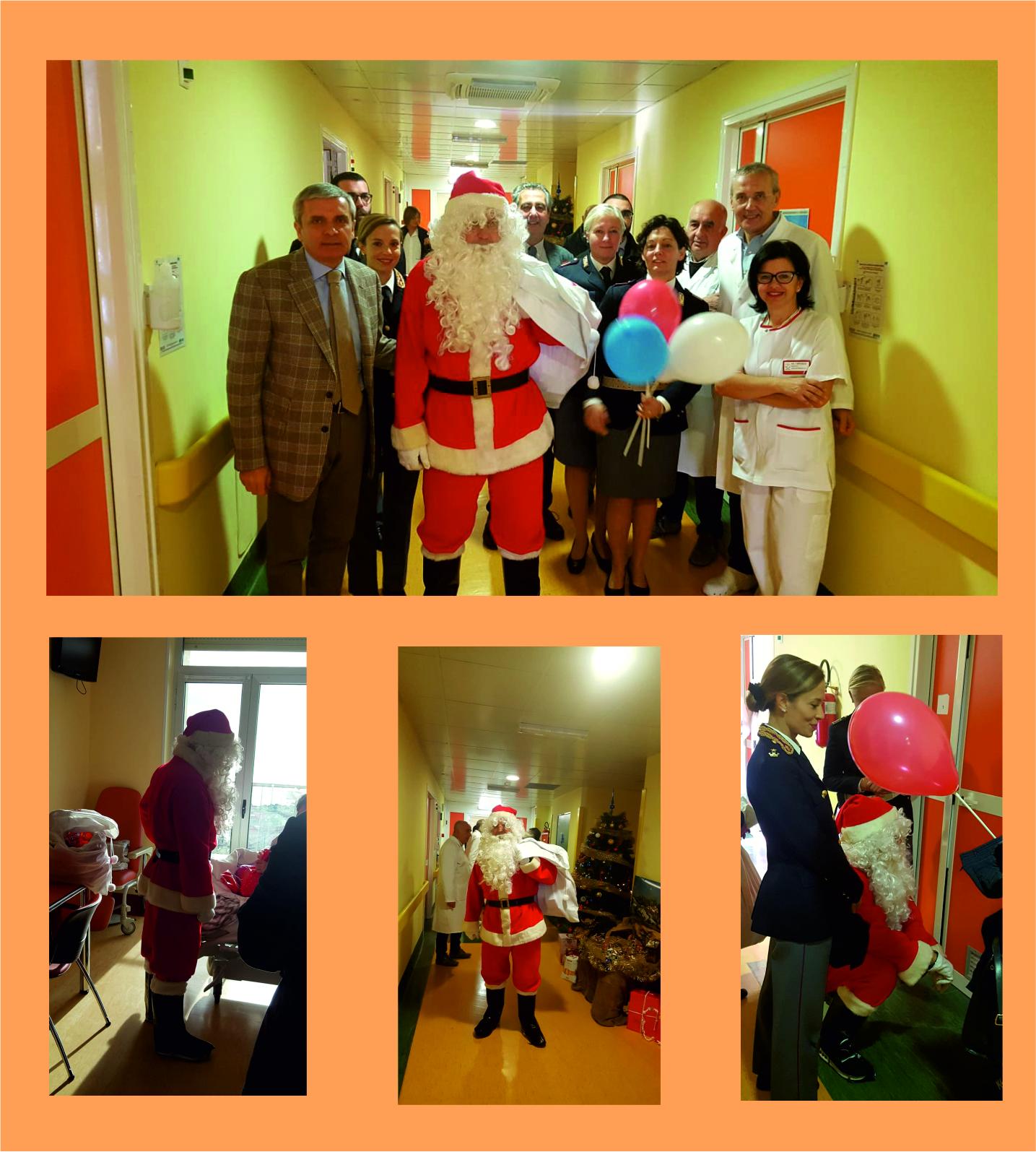 Babbo Natale In Spagnolo.Babbo Natale Fa Visita Ai Reparti Di Pediatria Degli