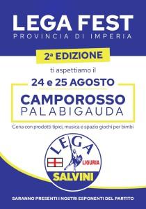 Locandina 70x100 festa provinciale Lega 24 e 25 agosto 2019