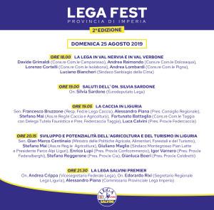Programma domenica 25 agosto 2019