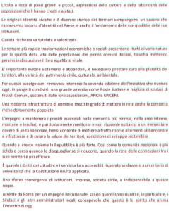 lettera Presidente Mattarella