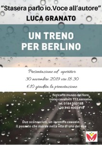 Sanremo, al Floriseum di Villa Ormond lo scrittore Luca Granato presenta il suo libro - Riviera24