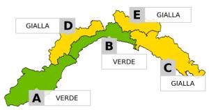 Allerta gialla in Liguria: risparmiata la provincia di Imperia dove il livello resta verde - Riviera24