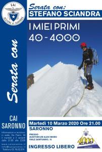 Locandina serata10 Marzo a Saronno